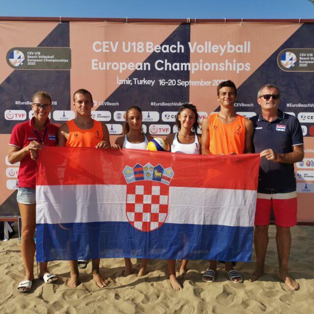 Mlade hrvatske pjeskašice ispale u osmini finala Europskog U18 prvenstva