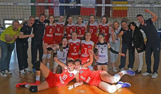 Hrvatska ženska kadetska reprezentacija pobijedila Rumunjsku s 3:2 i plasirala se na EP